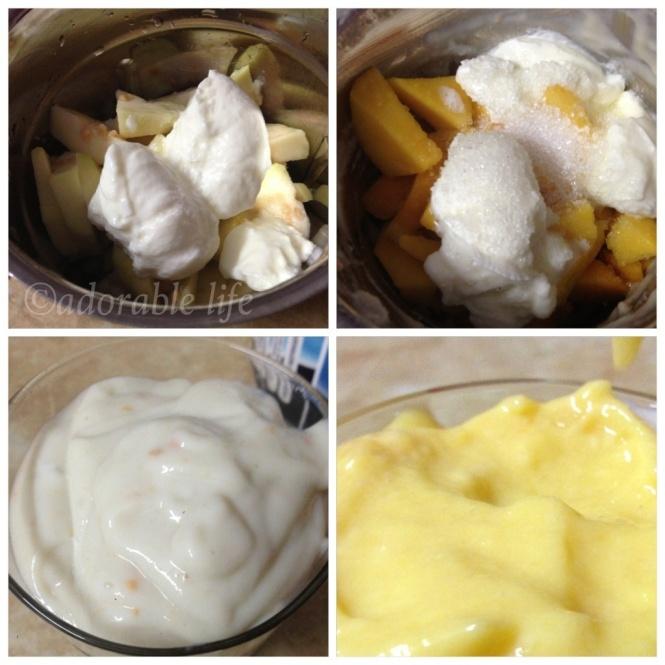 Mango yogurt, gauva yogurt