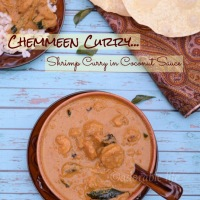 Shrimp Curry In Coconut Sauce( Kerala style Chemmeen Curry)