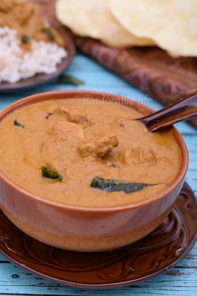 Shrimp curry kerala style