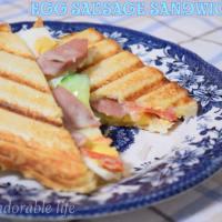 Grilled Egg Sausage Sandwich