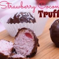 Strawberry Coconut Truffles
