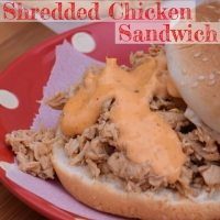 One Pot Shredded Chicken Sandwich