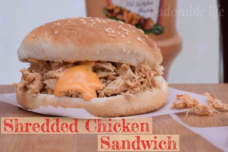 shredded chicken sandwich