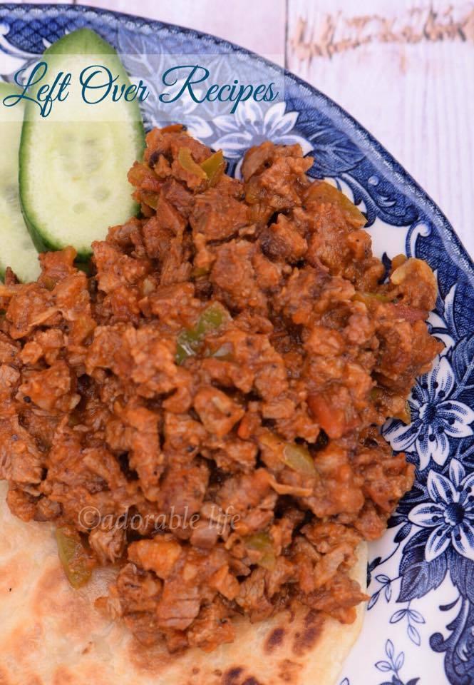 Leftover recipe with Lamb Kebab